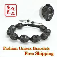Новый attival ювелирные изделия роскошь мужчин Кожа Браслеты двойной строк браслет из нержавеющей стали для мужчин
