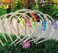 6pcs/lot Fashion Rhinestone Jewelry Imitation Pearl Headband Accessories Headband Cheap Bride Hairbands for Girls/Lady