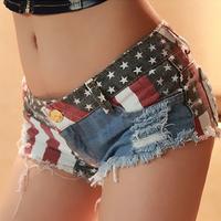 2014 summer Frosted hole denim shorts women short jeans hot print pants wholesale WKD109