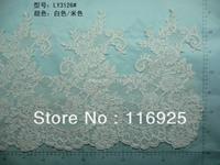 Ultra wide lace decoration white net car lace decoration 37 cm height vintage lace trim decoration