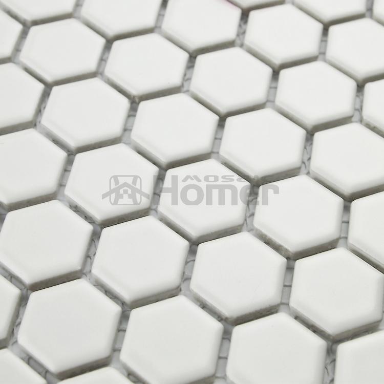 12x12 hexagon matt white ceramic mosaic tiles kitchen wall for 12x12 ceramic floor tiles