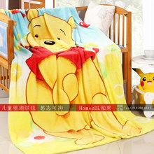 Kids Fleece Blanket Cartoon Patterns Rectangle Bedding Sheet,Children Travel Home Blanket 7 designs you choose Micky Kitty Bear(China (Mainland))
