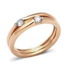 Super Sell Rose Gold Lust CZ Ring Women Finger Rings Lead Free Nickel Free Marriage Anniversary Gift (GL126)