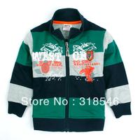2014 new Free shipping 5pcs/lot children clothing boy/ girls jacket boy stripe outerwear boy coat boy outfit 1-6Y