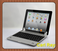 For ipad mini2 bluetooth keyboard 2013 hot selling luxury ultrathin 7.7mm aluminum alloy wireless bluetooth keyboard
