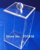 (30pcs/carton) 100% clear Plexiglass storage box acrylic square box