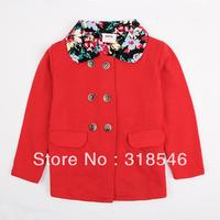2014 new Free shipping 5pcs/lot children clothing  girls winter coat girls outerwear girls winter jacket