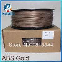 ABS gold color filament Makerbot/reprap/mendel/UP 3D printer filaments ABS/PLA 1.75mm 1kg(2.2lb)