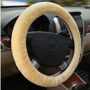 Free shipping winter plush car steering wheel cover fashion handlebar sleeve(China (Mainland))