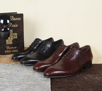 New 2014 men dress shoes brand name genuine leather flats fashion mens wedding party formal shoes sapatos mocassin