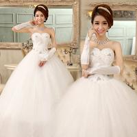 2013 new arrival  luxury wedding dress diamond tube top bandage wedding dress wedding qi hs5635