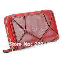 Genuine Leather Desigual Women Clutch Handbags Long Zipper Wallets Clutch Purses Card Holder 5 Colors