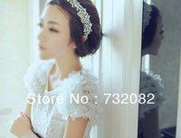 Whole sale 5pcs/lot Beauty & fashion women lace crystal Hairband Headbands Bride Wedding E3289-white