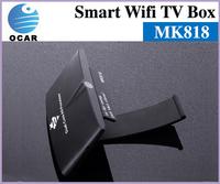 Hot sales!MK818 Smart TV box 4.2 Android 1GB RAM 8GB TV Box Built-in Camera MIC Skype XBMC