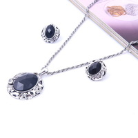New 2013 dubai African high quality Vintage fine black Fashion Bridal wedding Fashion earrings  Pendant Necklace Set jewelry set