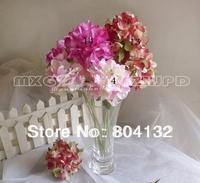 "12Pcs/lot 26cm/10.24"" Length Fifteen Colors Artificial Silk Flowers Simulation Single Hydrangea Korean Floral Home Decoration"
