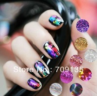 2014 New 20 different design Galaxy Nail Stickers laser metallic Nail Art Foils, 50packs/lot