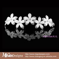 White Flower forehead Hair Jewelry Head Decoration For Woemn Party Bridal Wedding