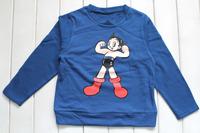 boys blue t-shirt long sleeve boys top boys tee 3-6yrs