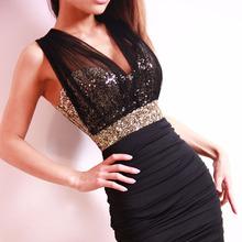 wholesale paillette mini dress