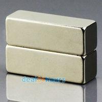 2pcs/lot N50 Bulk Super Strong Strip Block Bar Magnets Rare Earth Neodymium 30 x 10 x 10 mm Free Shipping