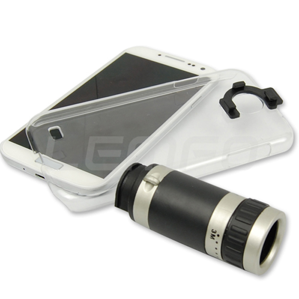 Mobile Phone Lens Universal 8 x Zoom Optical Camera Telescope w/Crystal Case for iPone 4 4S 5S 5C Samsung Galaxy S3 i9300 Note 3(China (Mainland))