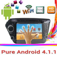 "Pure android 4.1.1 car dvd player for 8"" KIA K2 with GPS Navigation Radio Ipod USB /SD Support WIFI 3G free shipping to russia"