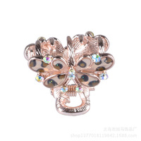 New hair accessory mini alloy leopard small butterfly, scratching clips go broken clip hair restoring ancient ways