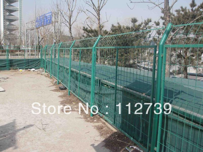Pre-buried Fence Post and Double Frame Wire Mesh Fence Panel(China (Mainland))
