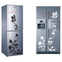 2014 Hot sell! Butterfly Flower Refrigerator/Fridge/Art Wall Stickers / Wall Decals /House decor