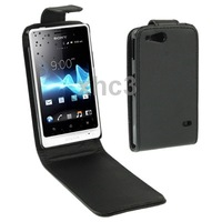 Vertical Flip Leather Case Cover for Sony Xperia Go ST27i