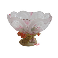 Exquisite glass fruit plate quality fruit plate luxury basket a0551a