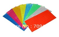 Bike bicycle motorcycle reflective stickers for safety at night, 10packs (80pcs)