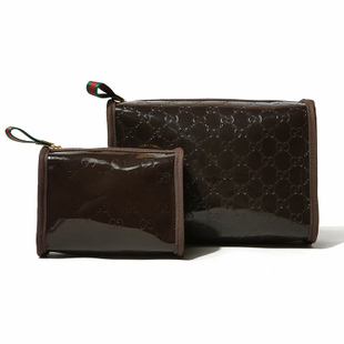 G coffee embossed cosmetic bag storage bag(China (Mainland))