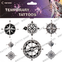 Waterproof tattoo stickers Temporary tattoos compass sign body art freeshipping dropping shipping