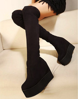 2013 autumn and winter elevator over-the-knee wedges high-heeled fashion boots platform shoes gaotong boots female