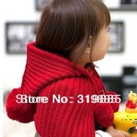 2013 baby scarf baby tippet infant scarf with cap neck warmer children scarf Hats cappa Toddler Boys & Girls gift