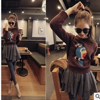 Simple vogue of new fund of 2013 autumn winters and long sleeve round collar women's parrot recreational sweater