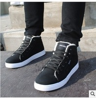 Men sneakers winter cotton shoes men canvas shoes British han edition tide high help sports shoes men's shoes