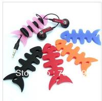 FAST SHIPPING! 10000PCS/LOT!  Winder fish bones Rao mp3 phone line splitter headphone cable hub