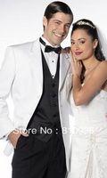 custom made groom wear and groom tuxedos white three piece wool suits bespoke free shipping groom tuxedos