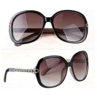 Super Vintage Glasses Retro 80's Caffelatte Sunglasses Female Round Shape big Sunglasses Free Shipping