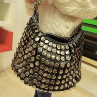 New arrival 2014 cheap women handbag rivets channel handbags designers brand bags women shoulder bags handbag cross-body bag