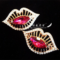 free shipping Sexy quality gold plated gorgeous sexy seductive rose cutout big stud earring