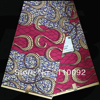 Item No. HDW341!Free shipping Dutch Wax ! Fashionable best-selling Hollandais Cotton Real Wax  Prints Fabric!