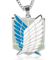 "5pcs/lot New Shingeki no Kyojin Attack on Necklace Titan Cosplay Scouting Legion 23.6"" Chain Freeshipping Gift Wholesale"