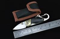 FREE SHIPPING 2PCS/LOT New Arrival Brass + Wood Handle QQ Small Pocket Knife Folding Knife DREAM1433