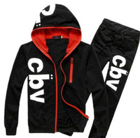 New arrival mens hoodies sport suits fashion printed track suits for men 4 colors free shipping