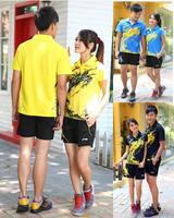 Free Printing Your Name Hot Selling li ning dragon design Badminton Shirt  Sports Wear Badminton Clothing set fitness clothes