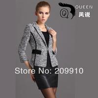 Female blazer outerwear spring and autumn women's fashion design high quality short suit wrist-length sleeve slim